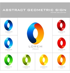 Oval sign logo design template vector