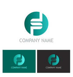 round letter s company logo vector image vector image
