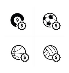 Sale sport icons vector