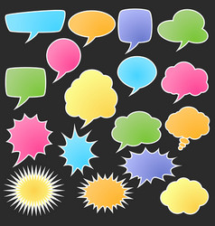 set of comic bubble stickers vector image vector image