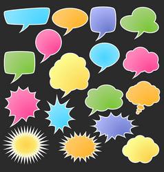 Set of comic bubble stickers vector