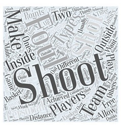 Shooting for the points word cloud concept vector