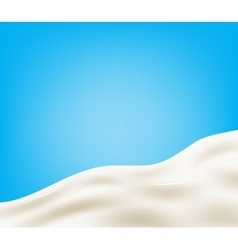 Tasty milk design element vector image