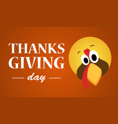 Thanksgiving day with turkey background vector