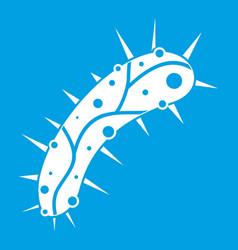 Virus icon white vector