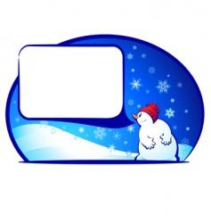 xnmas snowman vector image vector image