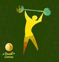 Brazil summer sport card with an yellow abstract s vector