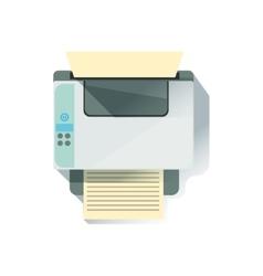 Laser printer office worker desk element part of vector
