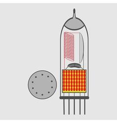 monochrome icon with radio tubes vector image