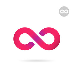 infinity flat sign uncertainty concept vector image