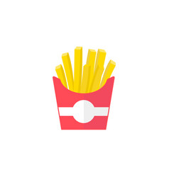 French fries flat icon food drink elements vector