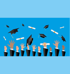 Concept of education college university ceremony vector