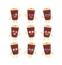 Coffee - set of mascot vector