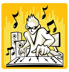 Music dj vector