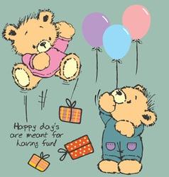 Happy bear vector