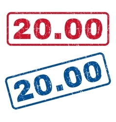 2000 rubber stamps vector