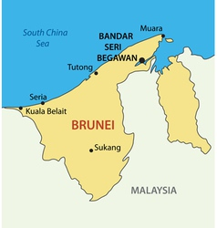 Nation of brunei the abode of peace - map vector