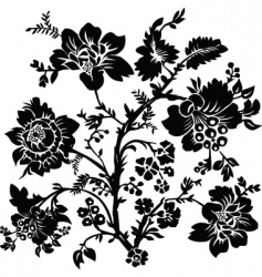 Rose and thorn ornament vector