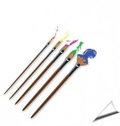 Paintbrushes vector