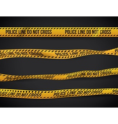 Yellow tape design vector