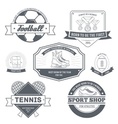 Sport set label template of emblem element for vector