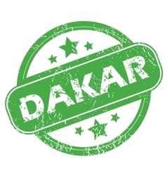 Dakar green stamp vector