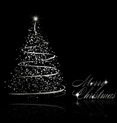 Abstract silver christmas tree vector