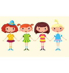 Cartoon girls vector