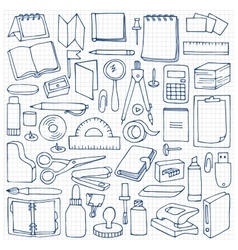 Hand drawn Office set vector image