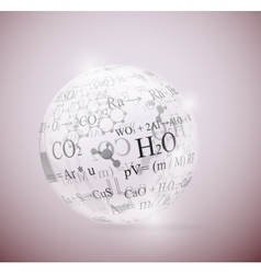 Chemical sphere vector image