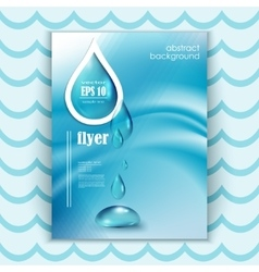 Blue shiny water drops banners vector image