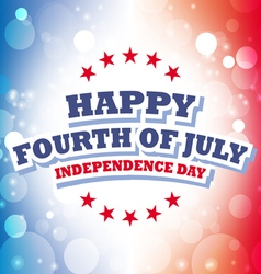 Happy fourth of july america greeting card vector