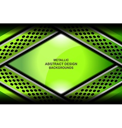 abstract background green metallic vector image vector image