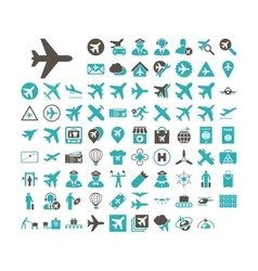 Aviation Icon Set vector image