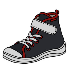 Black childrens sneaker vector