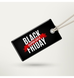 Black Friday sales tag vector image vector image