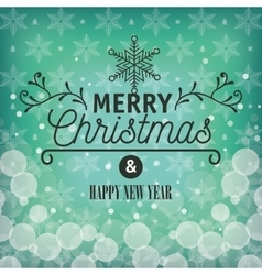 card greeting merry christmas with snowflake vector image vector image