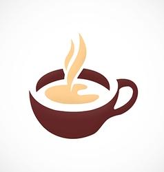 Coffee tea cup abstract logo vector