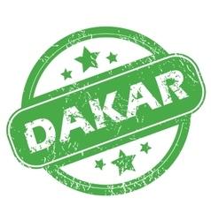 Dakar green stamp vector