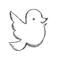 Figure dove of twitter icon design vector