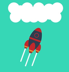 Flat rocket icon vector