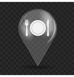 Food and drink glossy icon vector