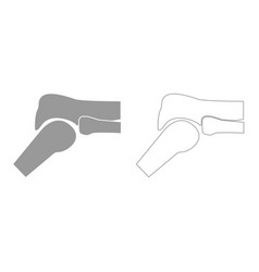knee joint grey set icon vector image