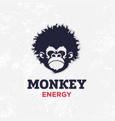 modern professional sign logo monkey energy vector image