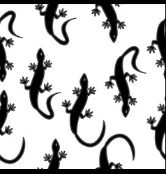 monochrome seamless texture in the form of lizards vector image vector image