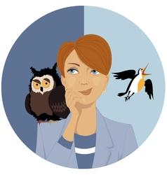 Night owl or morning lark vector