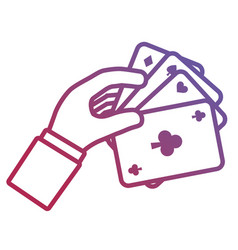 poker cards design vector image