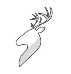 Profile deer icon vector