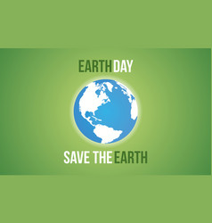 Save the earth flat vector