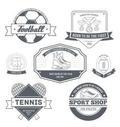Sport set label template of emblem element for vector